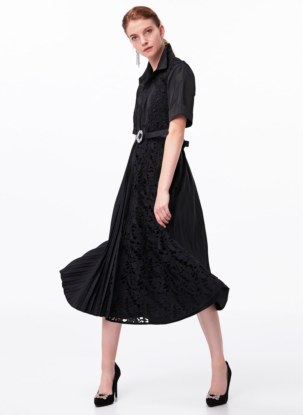 Ipekyol Güpür Ve Pilise Form Gömlek Elbise 496.0 Tl